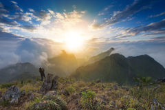 Sunset view from peak Stock Image