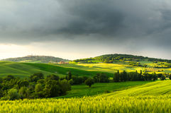 Sunset view of Pienza Royalty Free Stock Photography