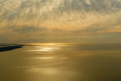 Sunset View from a Plane Royalty Free Stock Photo