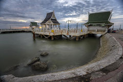 Sunset view point at Bangsaen Stock Images