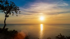 Sunset view point by the sea. Chanthaburi Province, Thailand Royalty Free Stock Photography