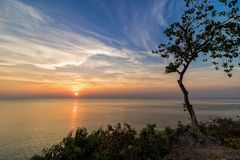 Sunset view point by the sea. Chanthaburi Province, Thailand Stock Photography