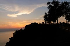 Sunset view point by the sea. Chanthaburi Province, Thailand Royalty Free Stock Images