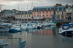 Sunset view of the port of Paimpol Royalty Free Stock Image