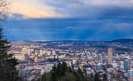 Sunset View of Portland Oregon Stock Photography