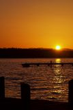 Sunset View (portrait). This is a spring sunset view from Marina Park in Kirkland, WA royalty free stock image