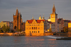 Sunset view of the Prague Royalty Free Stock Photos