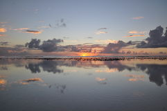 Sunset view on Rarotonga, Cook Islands Royalty Free Stock Photography