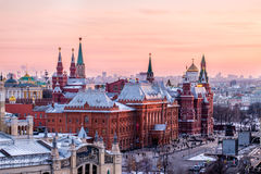 Sunset View. Red Square view on sunset Stock Image