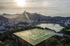 Sunset view of Rio de Janairo, Brazil royalty free stock photo