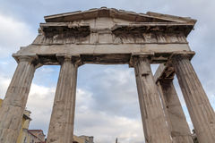 Sunset view of Roman Agora in Athens, Greece Royalty Free Stock Photography