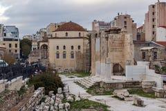Sunset view of Roman Agora in Athens, Greece Royalty Free Stock Photos