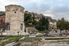 Sunset view of Roman Agora in Athens, Greece Stock Photo