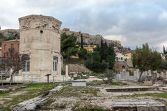 Sunset view of Roman Agora in Athens, Greece. Sunset view of Roman Agora in Athens, Attica, Greece Royalty Free Stock Images
