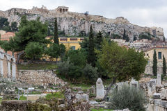 Sunset view of Roman Agora in Athens, Greece. Sunset view of Roman Agora in Athens, Attica, Greece Royalty Free Stock Photography
