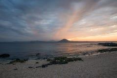 Sunset view of Sanho Beach Seobinbaeksa at Udo Island Cow Island stock photos