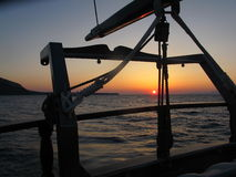 Sunset view , Santorini Royalty Free Stock Photos