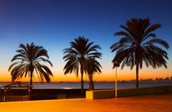 Sunset view of sea beach Stock Photo