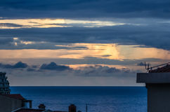 Sunset view on the sea Royalty Free Stock Image
