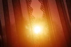 Sunset view seen through my window, orange light