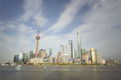 Sunset view of Shanghai skyline, China Stock Photos