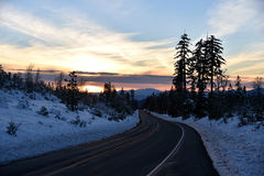 Sunset view from Shasta Road on Christmas day Royalty Free Stock Photography