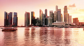 Sunset view of Singapore Royalty Free Stock Photos