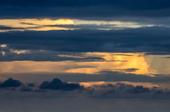 Sunset view on sky Stock Image