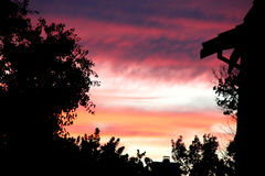 Sunset view of sky in Sunnyvale, California, USA Stock Photos