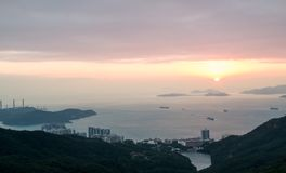 Sunset view of South China Sea Royalty Free Stock Photo