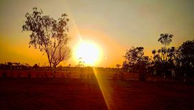 Golden Sunset view royalty free stock photo