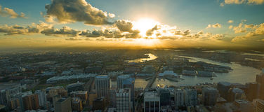 Sunset view from Sydney city Royalty Free Stock Photo