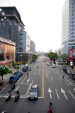 The sunset view of taipei street view Royalty Free Stock Photos