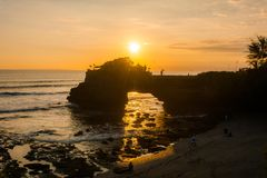 A sunset view from Tanah Lot Temple stock images