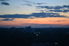Sunset view. From 14th floor of a house in Odessa Stock Photos