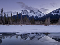 Sunset view of the Three Sisters Stock Photos