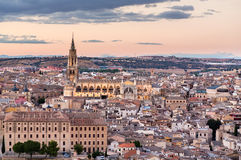 Sunset view of Toledo city in Spain Stock Photo