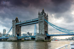 Sunset view of Tower Bridge in London, England Royalty Free Stock Photo