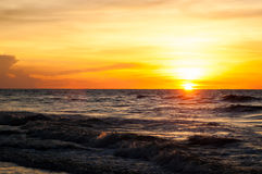 Sunset. View of a sunset at Tusan Cliff, Miri Stock Image