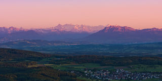 Sunset view from uetliberg Stock Image