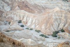 Landscape of the valley of Zohar stock image