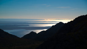 View from Velebit mountains in Croatia Royalty Free Stock Photography