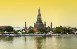 Sunset view of Wat Arun Stock Photo