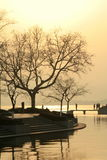 Sunset view at West Lake. In China Stock Photos