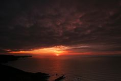 Sunset viewed from nr Crackington Royalty Free Stock Image