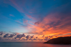 Sunset at the viewpoint of Phuket, Thailand Royalty Free Stock Photography
