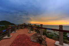Sunset viewpoint in thailand travel Stock Photography