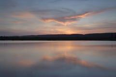 Sunset views across Duralia Lake, Penrith Stock Photos