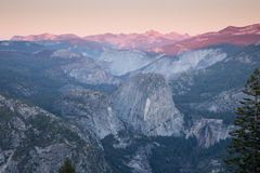 Sunset views from Glacier Point. Royalty Free Stock Image