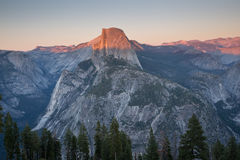 Sunset views from Glacier Point. Royalty Free Stock Images